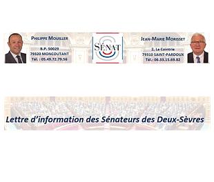 Lettre d'information des sénateurs des Deux-Sèvres